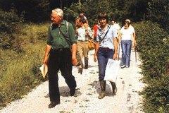 """Auf der Tagung in Schwäbisch Gmünd (Leitung D. Rodi) führte uns H. Zeidler durch """"seinen"""" Steigerwald."""